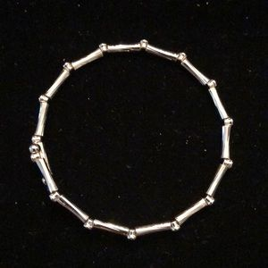Merx Jewelry - Merx Silver Bamboo Shape Bracelet